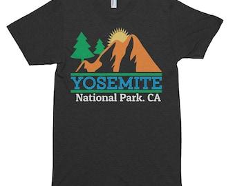 Vintage Yosemite National Park Summer Vacation Hiking camping Short sleeve soft t-shirt