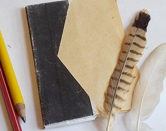Brown notebook. Bullet journal Eco notebook Rustic journal Eco friendly journal. Origami book, Eco gift, Upcycled paper Handmade art journal