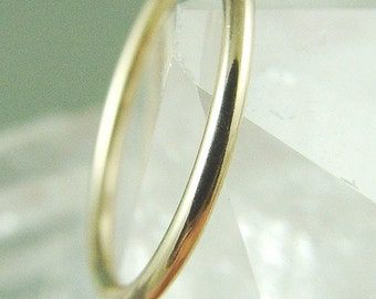 14K Rose Gold Filled Ring / Silver Stacking Simple Gold Wedding Ring / Rose Gold Ring / Silver Ring