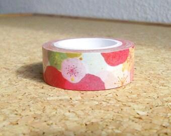Rose washi tape, Pink washi tape, Flower washi tape, Floral washi masking tape, Floral washi tape, Cute washi tape, Washi paper