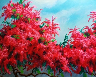 Flower Painting- acrylic painting, abstract painting, flora painting