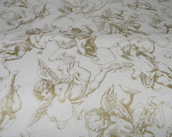 Gold Cherub Tissue Paper   Gold & Off white Cream   10 Sheets   Holiday Gift Wrap   Love Romantic   Luxury Gift Wrap Idea   Favor Packaging