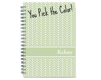 2018 2 Year Weekly Planner, Personalized 24 Month Calendar Notebook, Start Any Time, Add Your Name, Gift Idea, SKU: 2yr w chevron