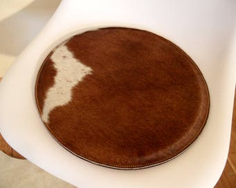 4 seat cushion brown/white cowhide / woolfelt 37cm