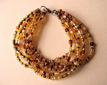 The Maize Cuff - Golden Beaded Bracelet