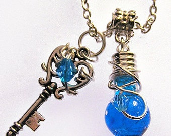 Mana & Health Potion - Vibrant Blue and Red Potion - Vial Necklace