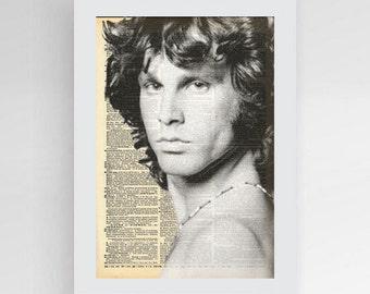 Instant download, Jim Morrison Poster, The Doors, Jim Morrison Art, Art Print, Dictionary Art Print, Dictionary Page, Dictionary Print