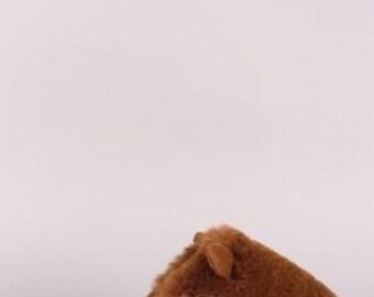 Faux Fur Animal Ear Slip-On Mule Slipper