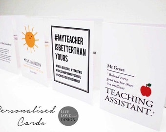Personalised Teacher Card