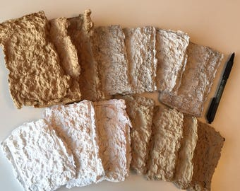 Dehydrated Paper Pulp from Recycled Papers 4oz