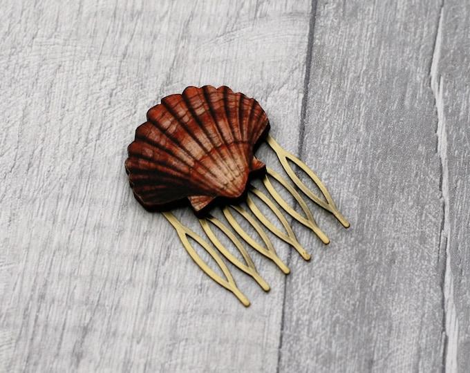 Shell Hair Slide, Seaside Hair Comb, Nautical Hair Grip, Girls Hair Accessory