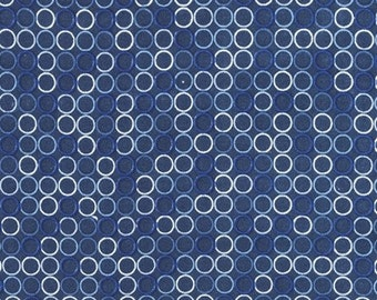Spot On in Navy by Robert Kaufman - 1/2 yard increments