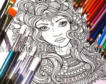 Queen   Mariola Budek - Coloring Page