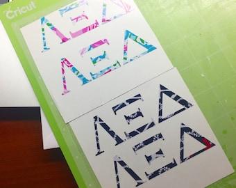Greek Letter Sorority Sticker
