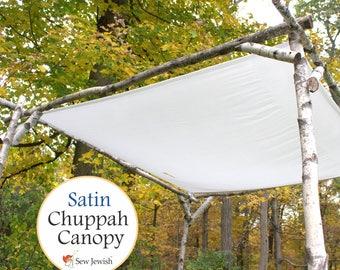 Jewish Wedding Chuppah Canopy - Satin - Wedding Chuppah Canopy - White Huppah Canopy - Wedding Huppah Canopy - Jewish Weddings Canopy