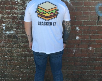 Adults Stacked It Skateboard T-Shirt