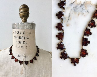 Masuleh necklace | vintage 1920s necklace | antique 20s glass necklace