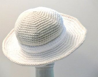Crochet Pattern - Womens Hat - Sun Hat - Winter Hat - Summer Hat, Wide Brim, No Wire - Baby, Toddler, Girls, Teen, Ladies, Large, XL  #120