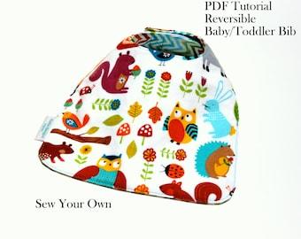 Baby Bib Tutorial, Toddler Bib Tutorial, Bib Pattern, PDF Instant Download, Sewing Pattern, DIY, Sew Your Own