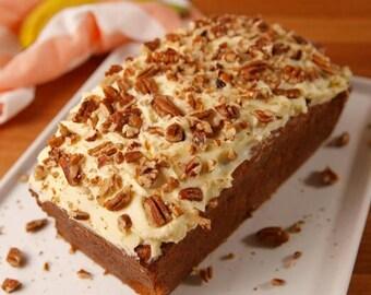 Carrot Cake Banana nut bread, homemade,from scratch, gourmet
