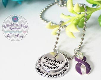 Custom Hand Stamped Chiari Malformation Awarness Necklace