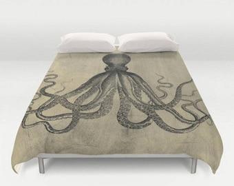 Octopus Vintage Design Duvet Cover