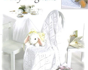 Tea For Two Baby Afghans ~  Knitting Book ~  6 Designs to Knit ~  Leisure Arts