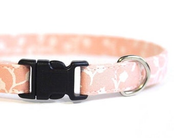Pink Cat Collar Floral | Breakaway Cat Collar | Handmade | Adjustable | Small Dog Collar | Pet Collar | Safety Cat Collar |Floral Dog Collar