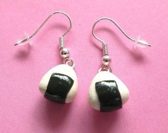 Onigiri Rice Ball Earrings