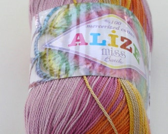 Alize Miss Batik crochet thread size 10, 100% mercerized cotton, #3719