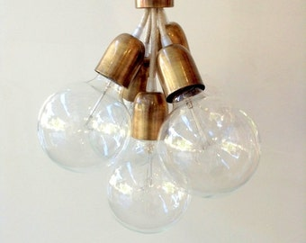 CABLES Handmade Pendant Light Chandelier Edison Restoration Industrial style Globes Fabric cables EGST