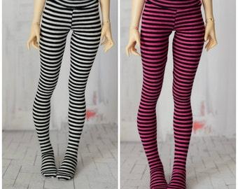 Striped tights for doll 1/4 slim msd minifee