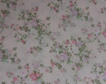 Yuwa French Tiny Roses  on Light Pink  Cotton Fabric 826226B