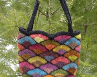 Felted Stained Glass Fan Bag Pattern