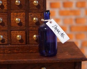 Miniature Glass 'Drink Me' Bottle