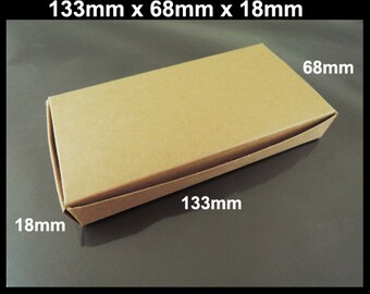 Kraft Paper Boxes - 10pcs Brown Kraft Box Paper Box Gift Boxes Gift Wrapping 133mm x 68mm x 18mm