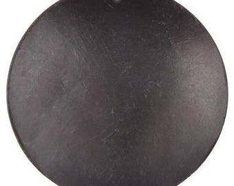 Natural Beads-60mm Domed Disc Pendant-Black-Quantity 1