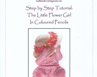 Step by Step Art Tutorial - The Little Flower Girl in Coloured Pencils by Karen Hull