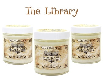 Book Candles, The Library Set, Literary Gifts Book Scented Candle, Personalized Gift, 3 x 4 oz Box Set
