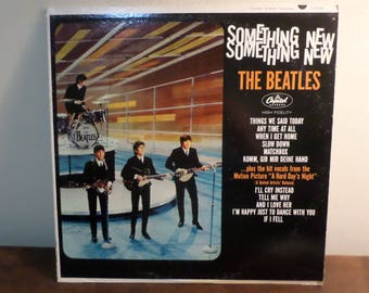 Vintage 1964 LP Record The Beatles Something New Capitol Records T-2108 Mono Good Condition 15539