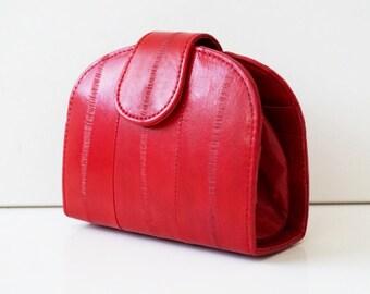 "Women's wallet, womens purse, leather wallet ""June"" in red, genuine leather, wallet, purse, portemonnaie, handmade, pocket, Taschenkinder"