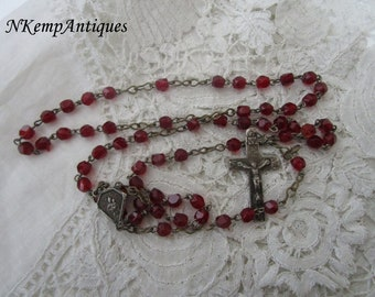 Ruby red rosary 1920's