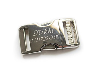 Personalized Buckle Upgrade for You Had Me at Woof Dog Collars, Engraved Metal Buckle, Aluminum Side Release Buckle - Hand Engraved