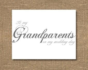 To My Grandparents on My Wedding Day - Wedding Card