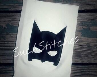 Bat Head Applique Peeker Machine Embroidery Design