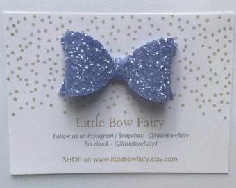 Lavender sparkle bow