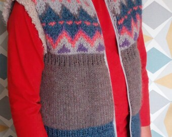 Hand knitted vest