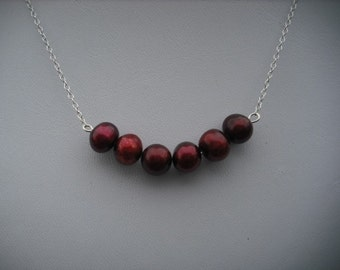 glam cranberry - sterling silver necklace