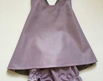 Reversible Pinafore Dress, Baby Dress, Summer Dress, Cotton Jumper Dress, Toddler Dress, size 6 month
