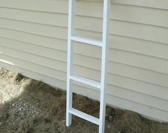 "42"" ladder, whitewashed ladder, wood ladder, wooden ladder, blanket ladder, ladder decor, rustic ladder decor"